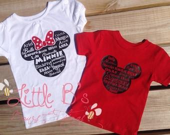 Disney Shirts | Mickey and Minnie Mouse Shirt | Mickey Mouse Shirt | Minnie Mouse Shirt | Disney Character Shirt
