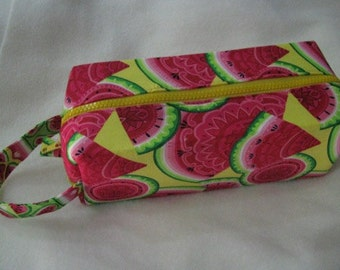 Paisley Watermelons Cosmetic Bag Makeup Bag LARGE