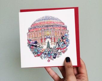 Royal Albert Hall Christmas card. Greetings for music lovers.