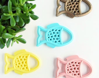 Fish Silicone Baby Teether Toy // Silicone Teether // Silicone bead // Chew Toy // Teething Ring // Chewlry // Fish Teether // Teething //