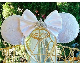 Bridal Minnie ears
