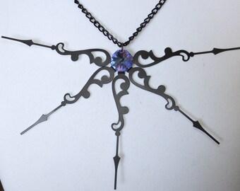 Infinity, Clockwork, Clock Hands, Statement Necklace, OOAK