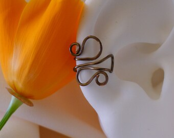 Double looped earcuff * bronze wire looped ear cuff* nonpiercing helix cuff * handmade cartilage cuff