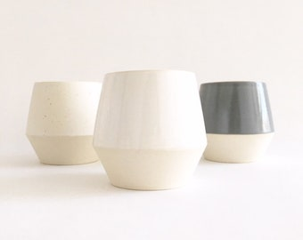 Cup - Ceramic Cup, Wine Cup, Tea Cup, Tumbler, Mug, Pottery, Modern Ceramics, Modern Ceramic Cup, Whiskey Cup, clay + craft by Nicole Novena