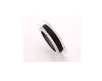 10 m crinelle wire 0.45 mm black