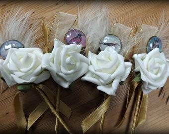 SALE Four bird buttonholes