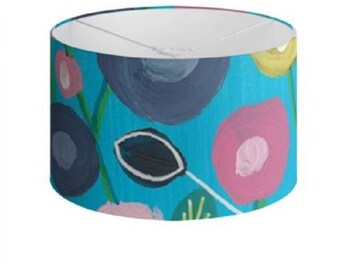 """Floral Lamp Shades """"Summer Blooms"""" Limited Edition Print - 40 cm"""