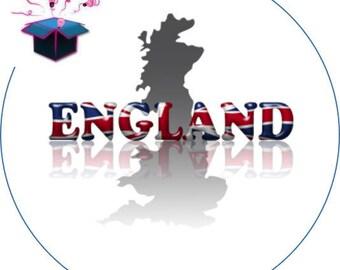 1 cabochon clear 20mm British flag theme