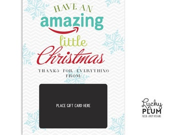 Amazon Gift Card Holder / Teacher Thank You Card / Christmas Gift Card Holder / Teacher Appreciation A Gift / *Digital Download Holiday
