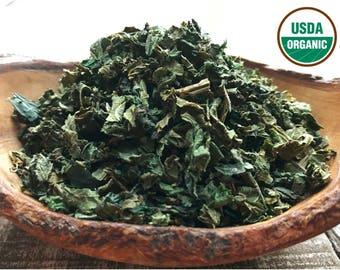 ORGANIC STINGING NETTLE, Nettle Leaf, Urtica dioica, Nettle Tea, Organic Herbs