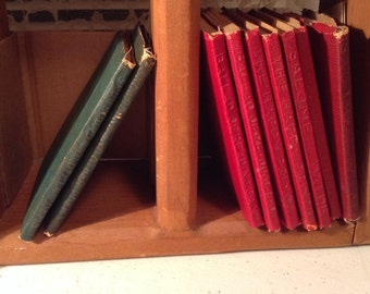 W Little Leather Library,  John Greenleaf Whittier,  Snowbound and Other Poems, Green Cover,