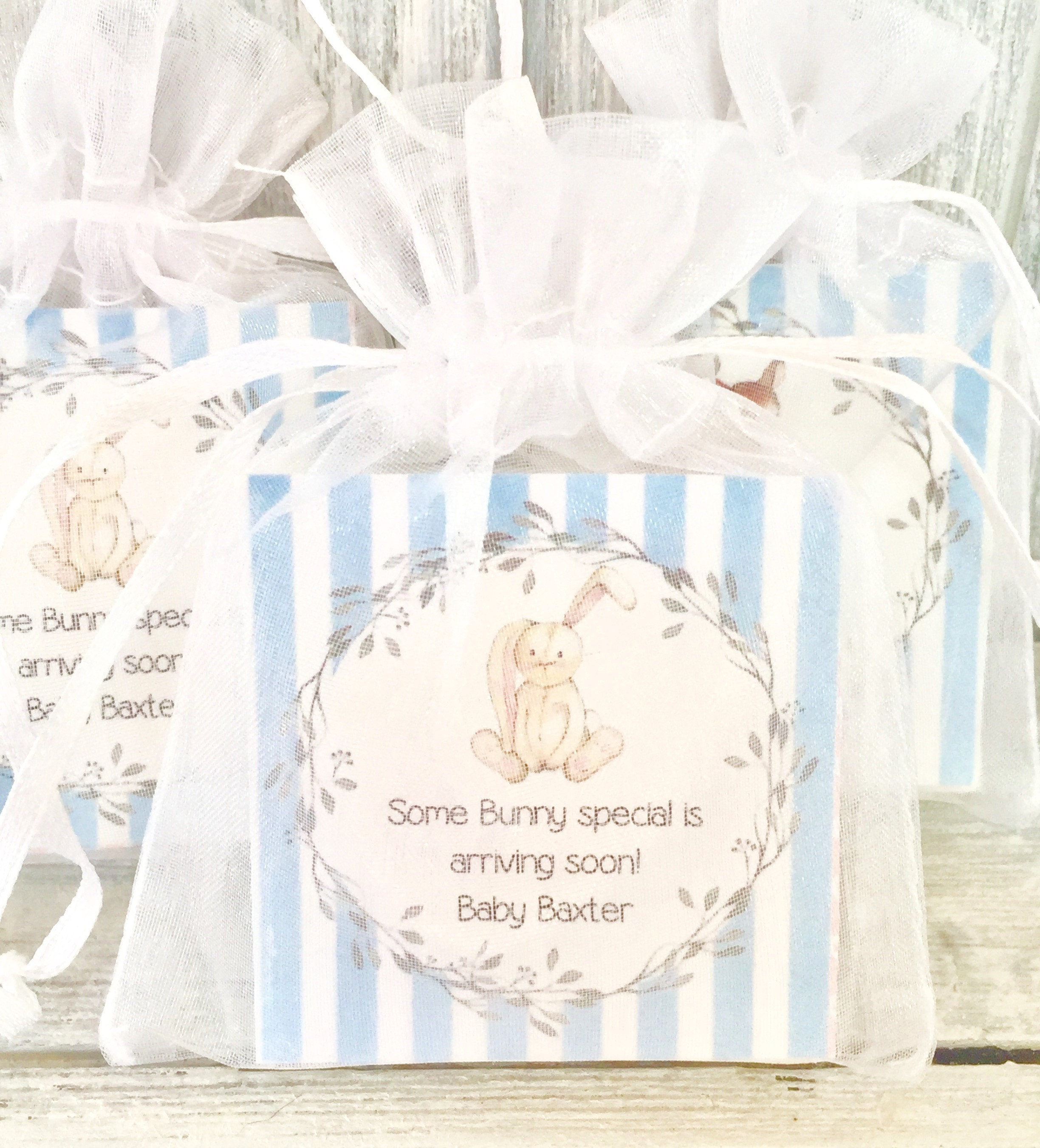 Bunny/Rabbit Soap Favors: Baby Shower Favors Birthday
