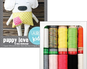 Aurifil Kids Puppy Love Thread Collection - 10 Small Spools, By Remy McDonough