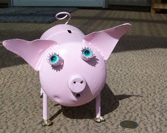 Pink Pigs with Porcine-ality; Pink Piggy Bank