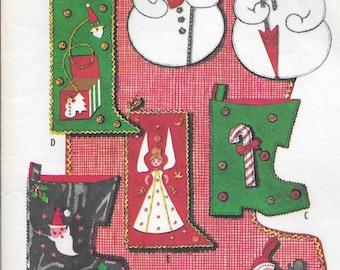 1959 Christmas Stockings and Big Boot McCall's 2351