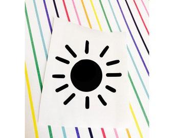 sun decal, sun sticker, sun, laptop, laptop decal, car, mug, sticker, cute