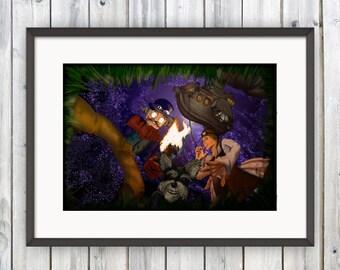 Steampunk Poster, Steampunk Wall Art, Digital Print, Steampunk Art, Home Decor, Steampunk Print, Steampunk Cartoon, Art Print, Geek Gift