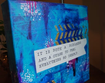 Heartfelt Blue and gold painting