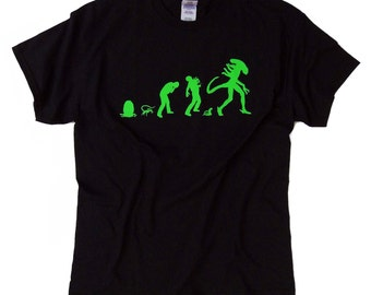 S - 5XL > ALIEN inspired T-Shirt > Alien Evolution