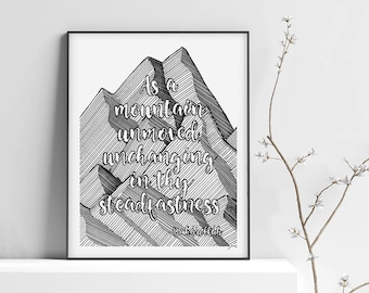Bahá'i Quote / Art print - 8x10 in - Handmade illustration - Wall Art - Inspirational Quote