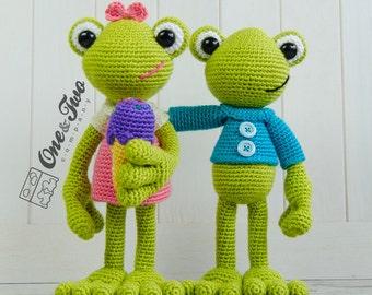 Kelly the Frog Amigurumi - PDF Crochet Pattern - Instant Download - Amigurumi crochet Cuddy Stuff Plush