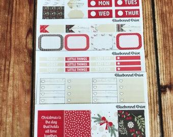 """FARMHOUSE Functional Sticker Kit- """"Brooke's Kit"""",  Planner Stickers, Vertical Sticker Kit Sized for Erin Condren Life Planner"""