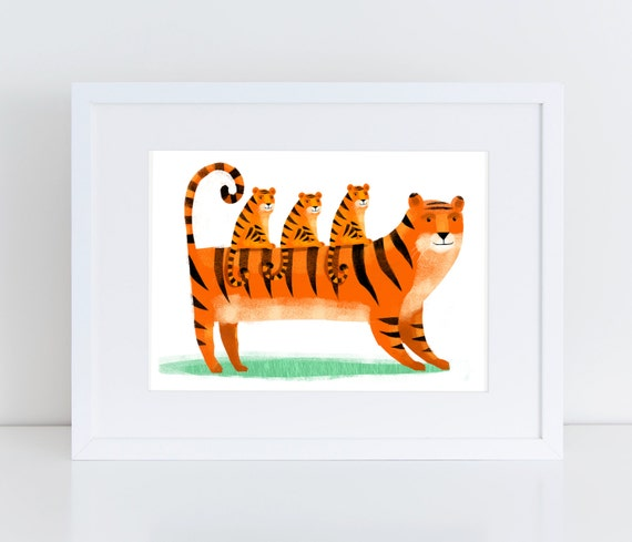 Tiger and Cubs - Signed print