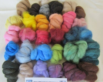 "3.0 oz. Alpaca Roving Needle Felting Multi Color BIG ""Blender"" Pack - 32 Colors"