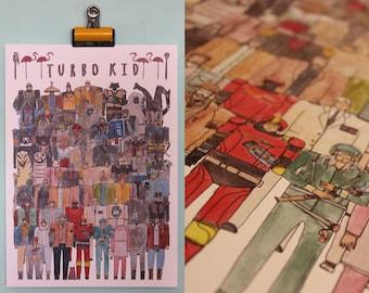 Turbo Kid Team Illustration