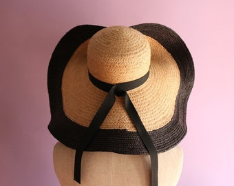 "Raffia Wide Brimmed Vacation Hat ""Olivia"""