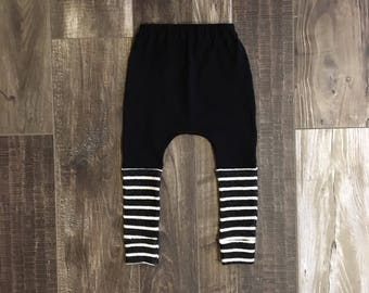 baby harem pants | baby leggings | toddler harems pants | toddler leggings |baby pants | stripes | black and white