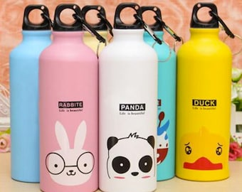 Animals water bottle/Outdoor water bottle/Portable Outdoor Sports CyclingCamping Bicycle Aluminum Alloy School kids water bottle