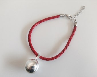 Angel Caller Bracelet - Leather with Silver Ball
