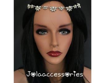 Art deco vintage style boho bridal headpiece bridal tiara bridal headpiece wedding headpiece bridal hair jewelry wedding hair accessories
