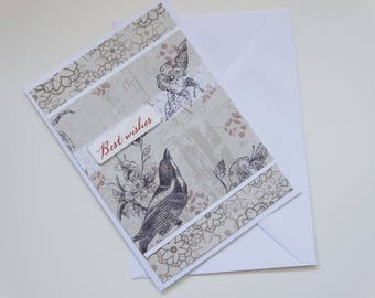 Bird Themed Best Wishes  - A6 Card