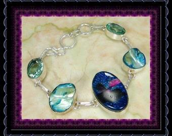 Dichoric Glass  Bracelet