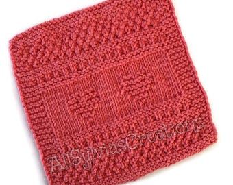 Dish Cloth,Tangerine Hearts Wash Cloth,Only Available at AllSylviasCreations, Gift, Eco Friendly,Cotton Kitchen Cloth, Gift for Him or Her