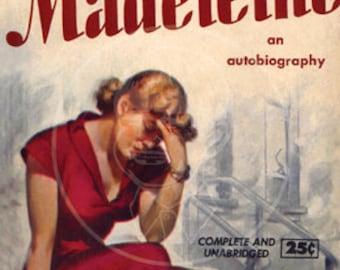 Madeleine - 10x15 Giclée Canvas Print of a Vintage Pulp Paperback Cover