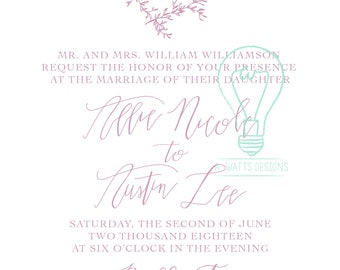 Hand Lettered invitation package