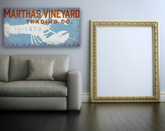 Martha's Vineyard Trading Company Lobster  graphic art on gallery wrapped canvas by stephen fowler