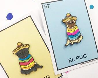 Los pugs loteria enamel  pin set!