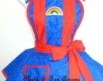 Rainbow Brite Costume Apron