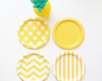8 Mix and Match, Choose your Colors Paper Plates