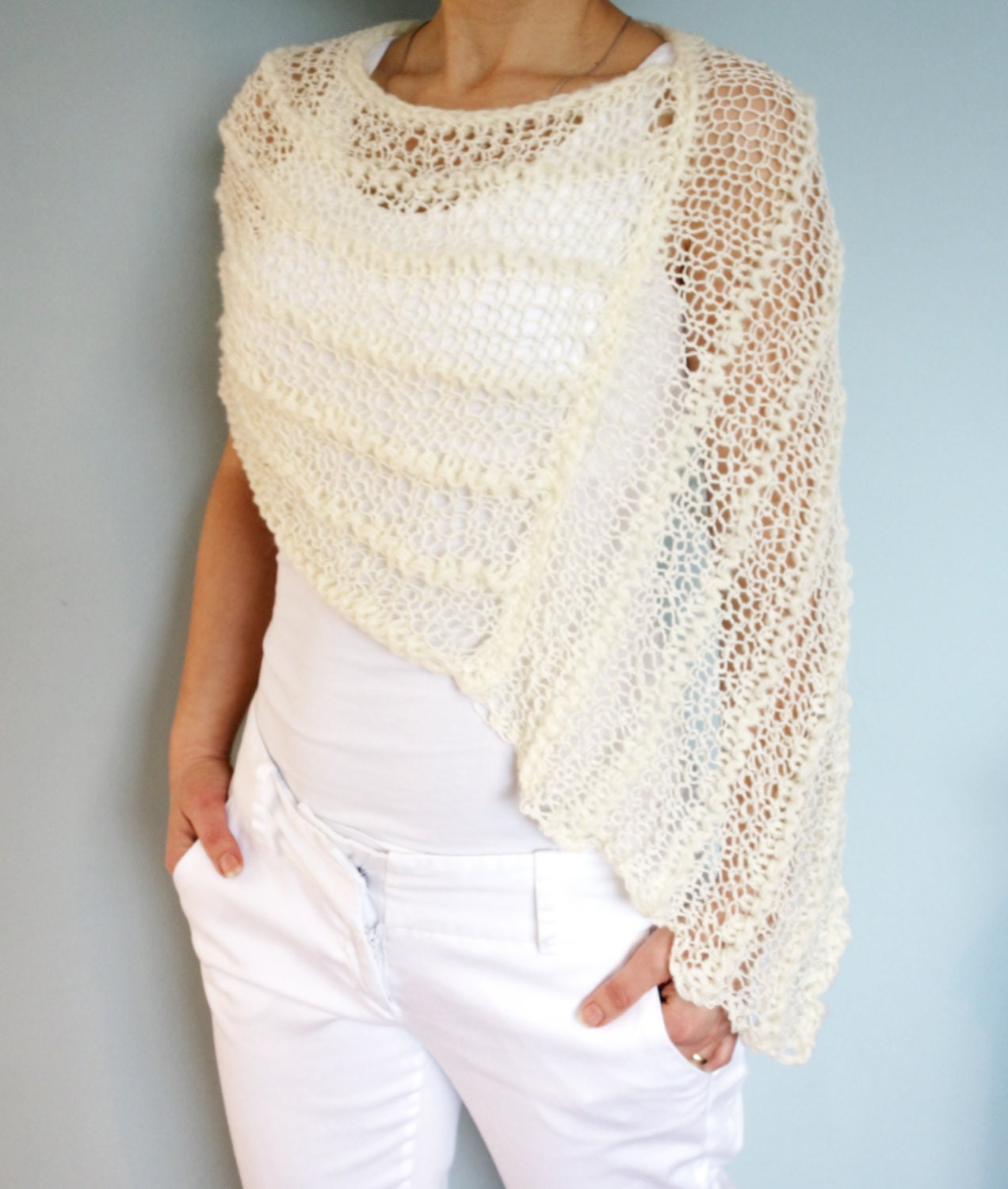 Lace Poncho Knitting Pattern Gallery - handicraft ideas home decorating