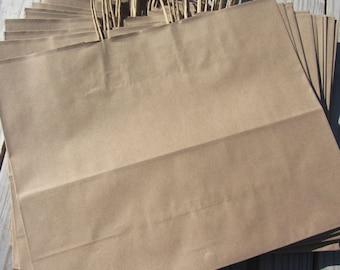 20 Pack - Kraft Paper Handle Bags(16x6x12)