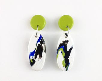 J U N G L E [Citris] Narrow Drop Earrings