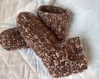 Hand crocheted Slipper/ slipper ankle socks/ womens size 5-6