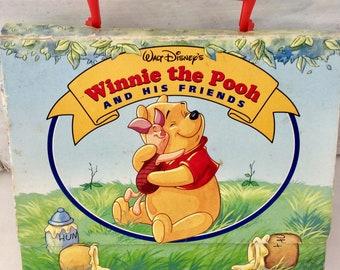 Vintage book - Winnie the Pooh - A. A. Milne - Walt Disney - set of 4 board books - class read - storybooks - Christopher Robin - Piglet