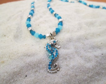 Jeweled Seahorse Necklace