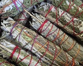 Sixth Sense Smudge Stick Wand Desert Sage, Cedar, Lavender, Copal, Sweetgrass and White Sage Free Shipping